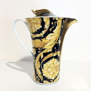 Versace Rosenthal Vanity Black & Gold Coffee Pot